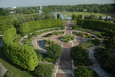 PHOTO: Heritage Garden from above.