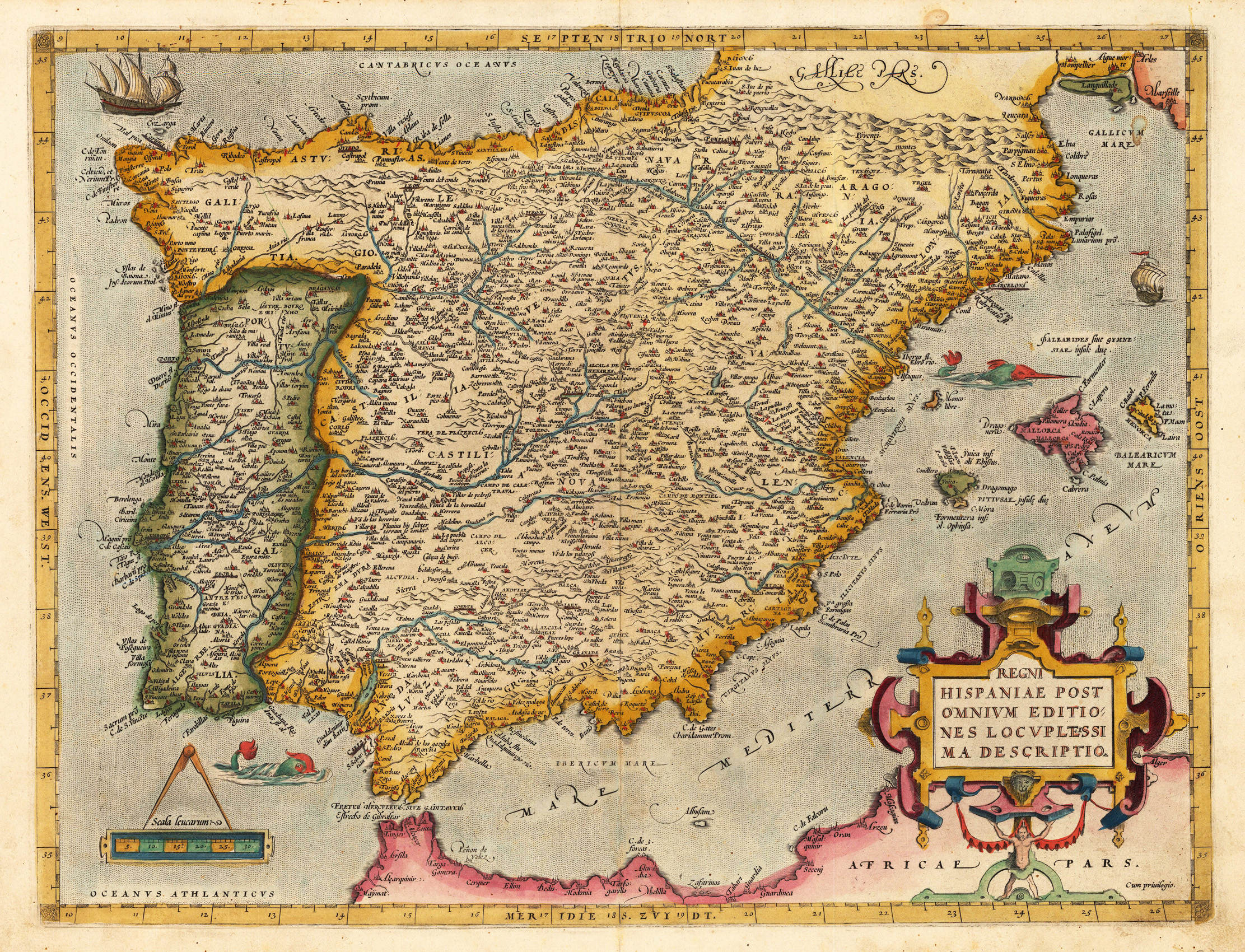Illustration: Ortelius' map of the Iberian penninsula.