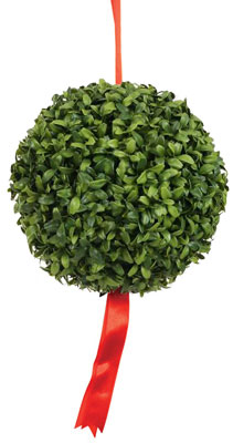 PHOTO: boxwood kissing ball