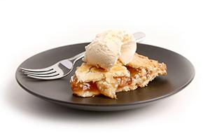 PHOTO: Ice cream and pie.