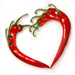 Pepper valentine heart
