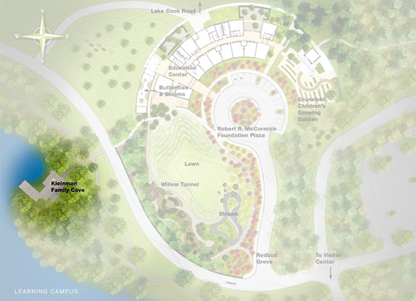 ILLUSTRATION: schematic of the learning campus, highlighting the Kleinman Family Cove.