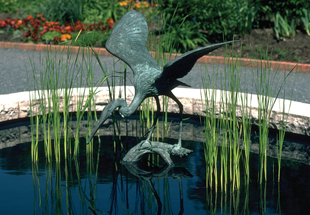 SCULPTURE: Blue Heron