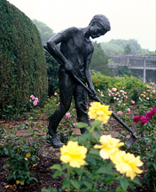 SCULPTURE: Boy Gardener