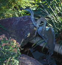 SCULPTURE: Heron Pair