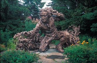 garden sculpture. SCULPTURE: Carolus Linnaeus Garden Sculpture