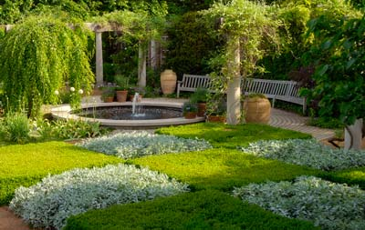 PHOTO: the checkerboard and pergola gardens