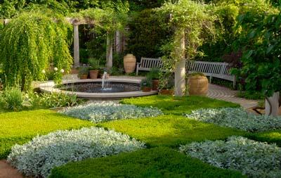 A walk in the english walled garden chicago botanic garden for Checkerboard garden designs
