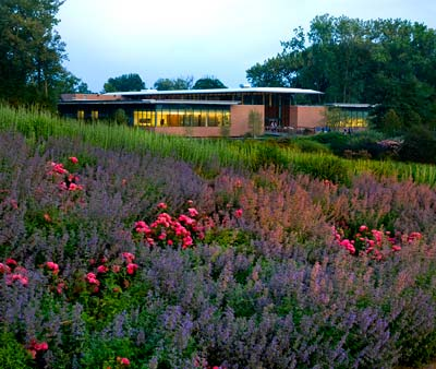 PHOTO: Science Center in fall bloom