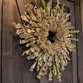 Wreath by Nancy Clifton.