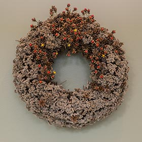 Wreath by Dave Sollenberger.