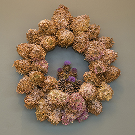 Wreath by Tom Fritz.