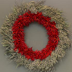 Wreath by Lisa Hilgenberg.