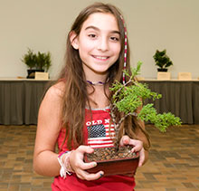 PHOTO: Bonsai workshop participant