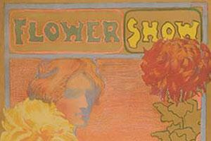Vintage Flower Show Poster