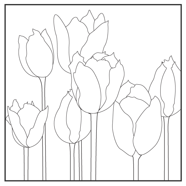 Color the Tulips