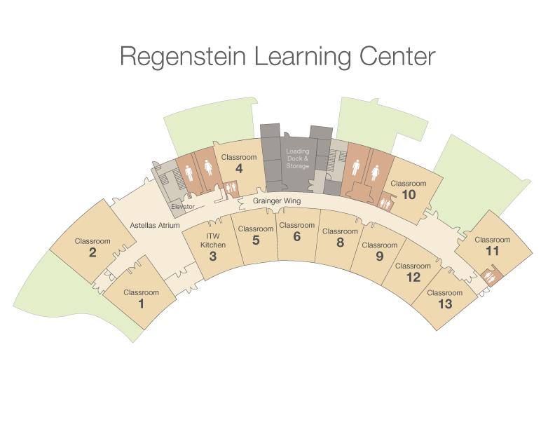 Regenstein School Classroom Map Chicago Botanic Garden