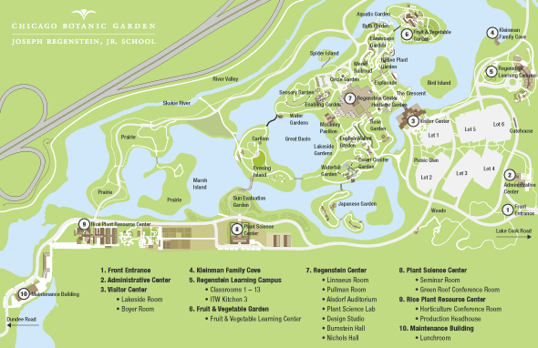 Regenstein school classroom map chicago botanic garden for Garden design map