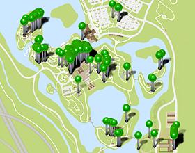 Map of Hydrangeas