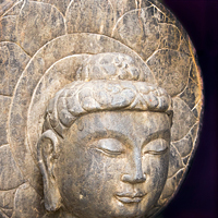 1900 Buddha, graciously on loan from our friends at Pagoda Red galleries