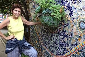 Georgia O'Keeffe Flowers in Glass Mosaics  Primary tabs ViewEdit