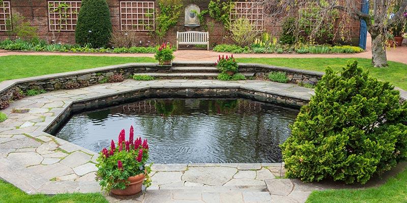 English Walled Garden in spring
