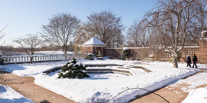 English Walled Garden Winter