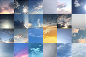 Montage of sky photos