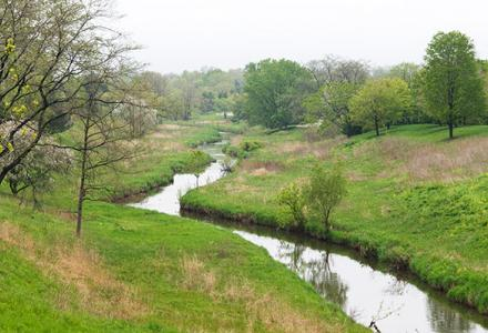 Skokie River in spring