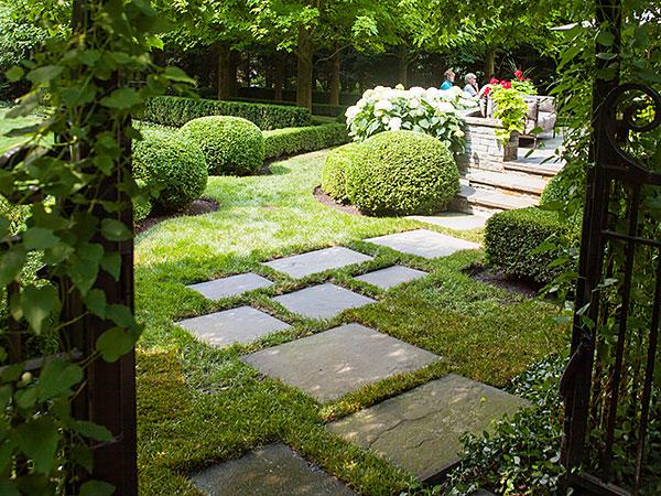 Paths lead you into a garden